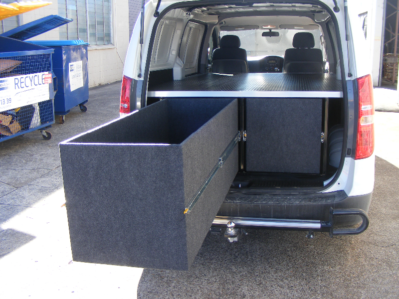 I-Load Rear Heavy Duty Deep Drawers Carpet Covered