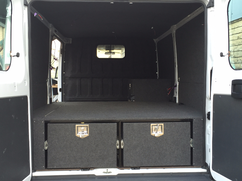 Fiat Double Rear Drawers, Carpet Covered