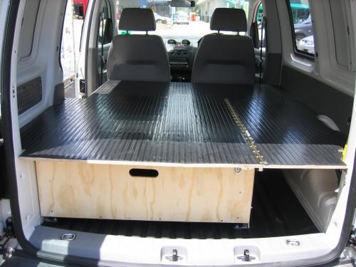 False Floor with Drawer Offset to Passenger side