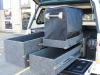 MTO Custom Drawers in Ute with Canopy Open