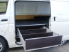 Open RXI Drawer at Sliding door in a Hiace Van