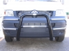 VW T5 Black and Chrome Steel Loop Bullbar